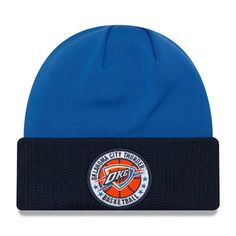100% authentic f8f18 58aaa Oklahoma City Thunder New Era 2018 Tip Off Series Cuffed Knit Hat - Blue