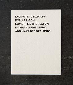 Greeting Card - Bad Decisions