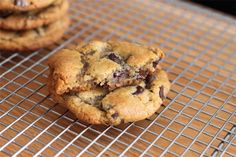 chewy and gooey chocolate chip cookies.