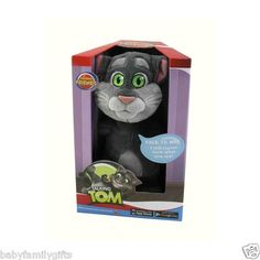 """Cuddle Barn 11"""" Animated Talking Tom Cat Plush Toy Repeats Back What You Say $35.00 Sold at Baby Family Gifts Ebay"""