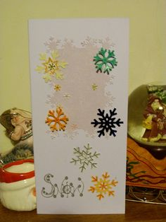 Punched Snowflake Christmas Cards by Celtic♥Heart, via Flickr