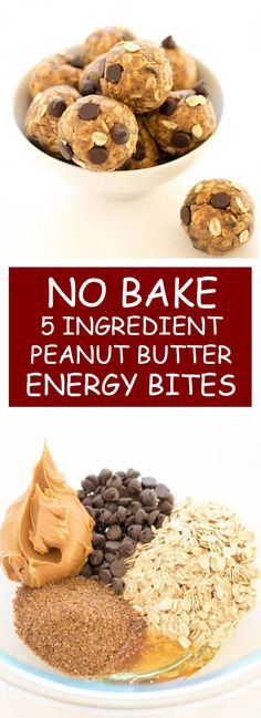 No Bake 5 Ingredient Peanut Butter Energy Bites   These No Bake 5 Ingredient Peanut Butter Energy Bites. Loaded with old fashioned oats, peanut butter and flax seeds. A healthy protein packed breakfast or snack! #oats #nobake #peanutbutter #energybites #healthysnack   healthyrecipes.wiki