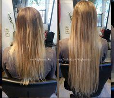 Hajhosszabbítás 60 cm-es európai hajból, 3 soros mikrogyűrűs varrással,ombre festéssel. www.hajbevarras.hu www.fb.com/hajbevarras #hajhosszabbítás #hajdúsítás #mikrogyűrű