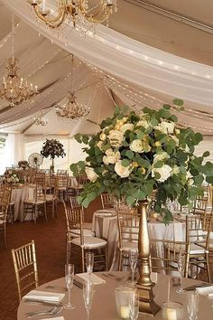 Wedding tent decor idea
