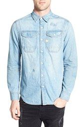 G-Star Raw 'Wolkershirt Crasserest' Repaired Denim Shirt