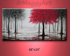 Black White And Red Wall Art red black and white paintings | abstract painting red black white