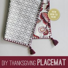 Dress up your #Thanksgiving table with #DIY @Waverly placemats! http://on.fb.me/H0cdYi