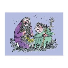 A mini poster featuring Roald Dahl's The Twits, illustrated by Quentin Blake