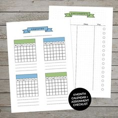Super handy printable student planner set. Organise everything from assignments and study to weekly tasks, notes, lunch and exams! Also includes a 'blank' version to use as a project planner if you're not a student. #studentplanner #printablestudyplanner #studyplanner #schoolplanner #planner #assignmentplanner #weeklyplanner #bulletjournal #plannerinsert #study #examschedule #projectplanner