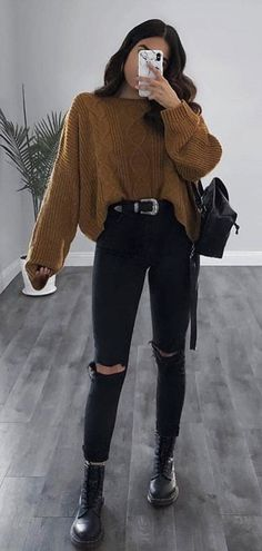 cute outfits for school ~ cute outfits ; cute outfits for school ; cute outfits with leggings ; cute outfits for winter ; cute outfits for women ; cute outfits for school for highschool ; cute outfits for spring Cute Outfits For School, Cute Casual Outfits, Stylish Outfits, Hipster Outfits For Women, School Wear, Cute Sweater Outfits, Woman Outfits, Hipster Style Outfits, Casual Jeans