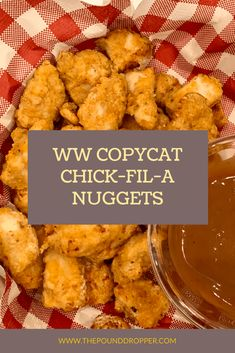 WW Copycat Chick-Fil-A Nuggets recipes chick fil a chicken Poulet Weight Watchers, Plats Weight Watchers, Weight Watchers Meal Plans, Weight Watcher Dinners, Weight Watchers Chicken, Weight Watchers Meatloaf, Weight Watchers Breakfast, Big Mac, Chick Fil A Nuggets