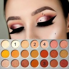 Morphe x Jaclyn Hill Palette Pictorial Makeup Tutorial Look Easy How to insta: @marieappelt youtube: @marieappelt Cut Crease , Half Cut Crease,how to, warm toned, burgundy, abh brows ,morphegirl, morphebrushes , morphe, jaclyn jh , step by step, makeup look, paso a paso, beginners #makeuplooksstepbystep #cutcreasestepbystep