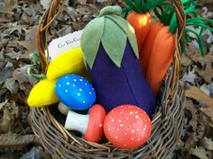 Solid Wood Hand Painted & Felt Food Toy Collection by CloverValley