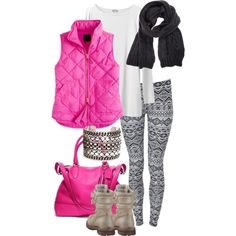 If I was 15 years younger, I would so be wearing this bright pink outfit.