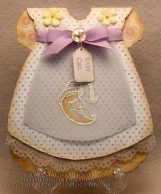 IODT Shaped Card Challenge Baby Dress Card