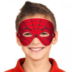 Spiderweb masker 14 x 20 cm. Superhero Birthday Party, 1st Boy Birthday, 3rd Birthday Parties, Birthday Party Decorations, Spider Man Party, October Crafts, Mickey Mouse And Friends, Halloween Masks, Ideas Party