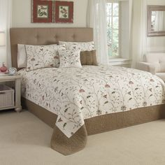 lamont home jessica chenille bedspread - mint/ chocolate - bed