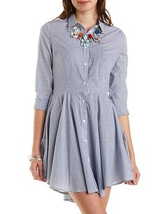 Seersucker Shirt Dress, 32.99 WANT