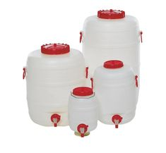 Plastic drum with tap, 50 litre capacity Plastic Drums, Simply Filling, Safe Storage, Safe Food, Easy, Food Grade, Faucet