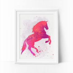 Horse Art Watercolor Horse Nursery Horse Printable by BigFamilyArt