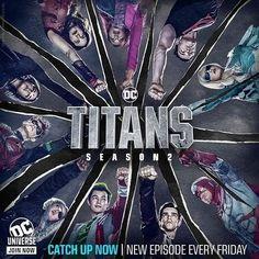 New Titans Season 2 Team Poster by on DeviantArt Teen Titans Love, Teen Titans Fanart, Dc Universe, Nightwing, Marvel Avengers, Marvel Comics, Titans Tv Series, Ryan Potter, Harry Potter