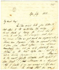 Pisa, July 1822. My dearest Mary I have recieved both your letters, & shall attend to the instructions they convey. – I did not think of buying the Bolivar; Lord B. wishes to sell her, but I im…