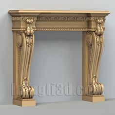 3D model for CNC routers and 3D printers (art. Fireplace 001)