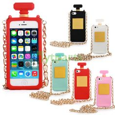 Silicone Girly 3D Perfume Bottle Protective Back Case for iPhone 5S 5 Elegant and royal design nice gifts for girls.