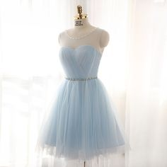 Homecoming Dress,Homecoming Dresses,Light Blue Graduation Dress,Lovely Cute Prom
