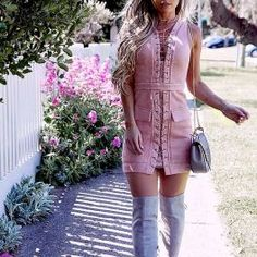 Lavin Lace Up Bodycon Dress