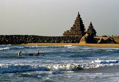 Shore Temple, Mahabalipuram - The folklore states existence of 7 temples on the shore line. Presently, there is only one temple is available on the shore and is popular as the Shore Temple. This ancient South Indian temple is constructed according to the Dravidian style of architecture. The temple has become very popular amidst tourists due to its recognition as one of the UNESCO's World Heritage Sites...