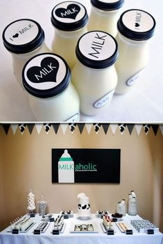 Great First Birthday Idea! Got Milk?   http://www.hostessblog.com/2011/06/clever-modern-milkaholic-sip-see/