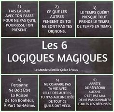 Quotes and inspiration QUOTATION - Image : As the quote says - Description les 6 logiques magiques - Atmosphère Citation Sharing is love, sharing is everything Positive Mind, Positive Attitude, Positive Thoughts, Positive Quotes, Quote Citation, French Quotes, Some Words, Positive Affirmations, Decir No