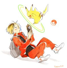 Find images and videos about boy, anime and pokemon on We Heart It - the app to get lost in what you love. Akaashi Keiji, Kenma Kozume, Kuroken, Haikyuu Fanart, Haikyuu Anime, Haikyuu Nekoma, Haikyuu Characters, Anime Characters, Kurotsuki
