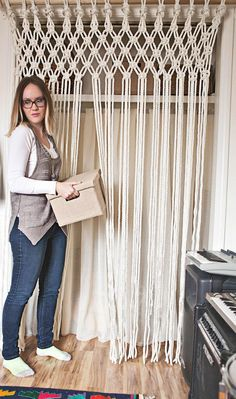 How to macrame rope curtain