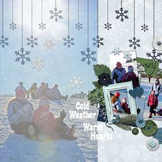 Layout using Winter Frost by Snips and Snails Designs