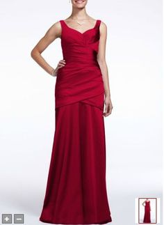 David's Bridal Long Sleeveless Stretch Satin Dress Style F15652 [BDavi076] - $89.00 : Dress2mylove.com