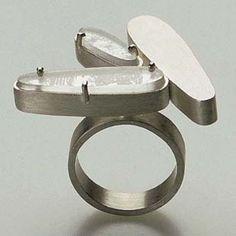CLAUDIA CUCCHI-BR- ring - silver, perspex(viaGalerie Slavik, No. 113502)