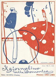 Il Giornalino della Domenica. Cover by Armando Curcio 1919