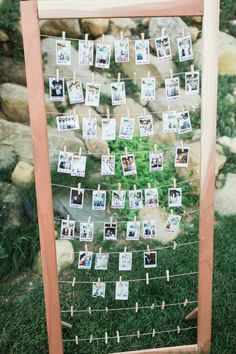 Polaroid Guest Book for Wedding | photography by http://brooke-borough.com/