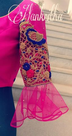 Wedding Saree Blouse Designs, New Blouse Designs, Hand Work Design, Neck Pattern, Sleeve Designs, Blouse Patterns, Indian Designer Wear, Blouse Styles, Embroidery Designs