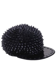 Black Rivets Black Hat covered with spikes Flat Bill Hats 875fcf3688f3
