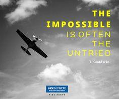 O que tem feito para alcançar o impossível? Bom feriado! #RiseAbove