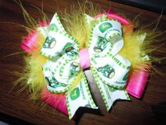Check out this item in my Etsy shop https://www.etsy.com/listing/252621722/john-deere-hair-bow