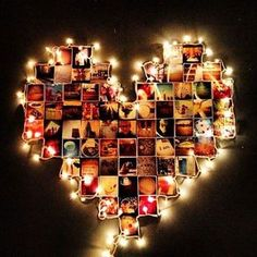 Idea para tener fotos en la habitación #Dormitorio #Tips #Fotos #Corazón #Luces