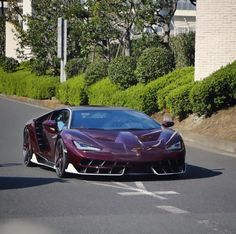 Lamborghini Centenario Coupe made out of exposed Dark Red carbon fiber w/ Bianco accents and polished wheels w/ Red carbon fiber blades    Photo taken by: @artonespot on Instagram