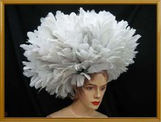 WHITE-Drag-SWAN-CABARET-Feather-SHOULDER-HEADDRESS