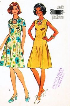 Simplicity 5678 Misses' and Half-Sizes Dress, Look Slimmer: Dress Sewing Pattern Vintage 1973 Simplicity,http://www.amazon.com/dp/B00D2JE9MQ/ref=cm_sw_r_pi_dp_.d-xtb0NYJHD867D