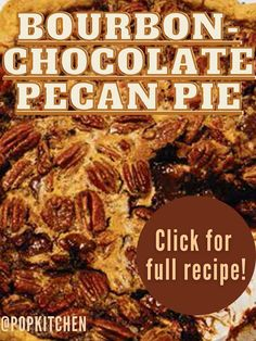 Bourbon & Chocolate Give Traditional Pecan Pie a Delicious Upgrade You'll Want to Make Over and Over #Pie #Bourbon #Chocolate #Chocolatepie #Desserts #PecanPie Chocolate Bourbon, Chocolate Pies, Cookie Cake Pie, Cookie Desserts, Pie In The Sky, No Bake Pies, Eat Dessert First, Summer Desserts, Pie Recipes