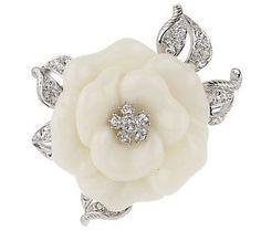 Nolan Millers White Lara Camellia Pin